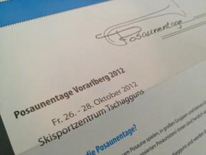 Flyer Posaunentage Vorarlberg