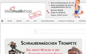 Der völlig runderneuerte Blasmusik-Shop ist online!